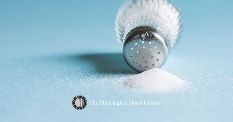 Salt shaker gets discarded for a low sodium diet as recommended by Huntington Heart Center for patients with high blood pressure